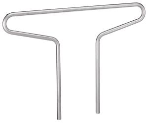 Anlehnbügel -Double- Ø 48 mm aus Stahl, Höhe 800 mm (Ausführung: Anlehnbügel -Double- Ø 48 mm aus Stahl, Höhe 800 mm (Art.Nr.: 694890))