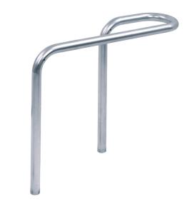 Anlehnbügel -Föhr- Ø 42 mm aus Stahl, Höhe über Flur 450 mm, zum Einbetonieren (Ausführung: Anlehnbügel -Föhr- Ø 42 mm aus Stahl, Höhe über Flur 450 mm, zum Einbetonieren (Art.Nr.: 422.01))