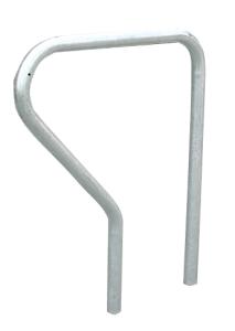 Anlehnbügel -Krefeld- Ø 42 mm aus Stahl, Höhe 800 mm (Gesamthöhe/Montage: 1100mm/zum Einbetonieren (Art.Nr.: 11023))