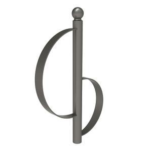 Anlehnbügel -Province- aus Stahl, Höhe 1000 mm, zum Einbetonieren, Kugel- oder Flachkopf