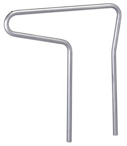 Anlehnbügel -Single- Ø 48 mm aus Stahl, Höhe 800 mm (Ausführung: Anlehnbügel -Single- Ø 48 mm aus Stahl, Höhe 800 mm (Art.Nr.: 694876))