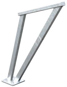 Anlehnbügel -Valeria- aus Stahl, Höhe 850 mm (Farbe: feuerverzinkt (Art.Nr.: 36539))
