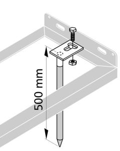 Bodenanker (2er Set) für Fahrradständer (Ausführung: Bodenanker (2er Set) für Fahrradständer (Art.Nr.: 425002))
