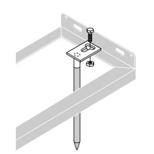 Bodenanker für Fahrradständer, VPE 2 Stk. (Ausführung: Bodenanker für Fahrradständer, VPE 2 Stk. (Art.Nr.: 425002))
