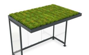 Dachbegrünungssystem GREEN+ für alle Modelle K4 (Ausführung: GREEN+ Economy für Überdachung K4 (Art.Nr.: 40780))