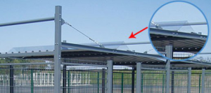 Dachverbinder für -Poseidon- aus Stahlblech, grauweiß (Ausführung: Dachverbinder für -Poseidon- aus Stahlblech, grauweiß (Art.Nr.: 11129))
