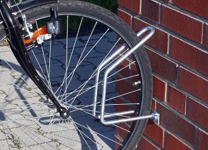 Einzelparker / Fahrradständer -Antalya-, zur Wandbefestigung 90°, Reifenbreite bis 43 mm (Ausführung: Einzelparker/Fahrradständer -Antalya-, zur Wandbefestigung 90°, Reifenbreite bis 43 mm (Art.Nr.: 10849))