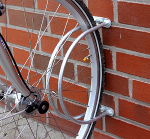 Einzelparker / Fahrradständer -Belfast-, zur Wandbefestigung 90°, Reifenbreite bis 43 mm (Ausführung: Einzelparker/Fahrradständer -Belfast-, zur Wandbefestigung 90°, Reifenbreite bis 43 mm (Art.Nr.: 10855))