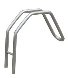 Einzelparker / Fahrradständer -Bratislava- aus Stahl, Reifenbreite bis 55 mm, 120 mm unter Flur (Ausführung: Einzelparker/Fahrradständer -Bratislava- aus Stahl, Reifenbreite bis 55 mm, 120 mm unter Flur (Art.Nr.: 10830))