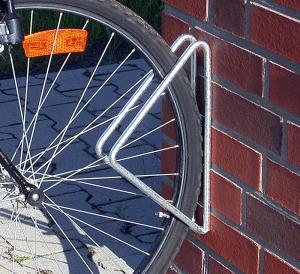 Einzelparker / Fahrradständer -Istanbul-, zur Wandbefestigung, 45° oder 90°, Reifenbreite bis 43 mm (Modell: mit Einstellwinkel 90° (Art.Nr.: 10850))