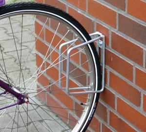 Einzelparker / Fahrradständer -Köln Classic- für Wand- oder Bodenbefestigung, Reifenbreite bis 43mm (Montage/Einstellwinkel/Höhe: zur Wandbefestigung/90°/350mm (Art.Nr.: 10841))