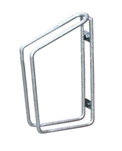Einzelparker / Fahrradständer -Köln- für Wand- oder Bodenbefestigung, Reifenbreite bis 48 mm (Montage/Einstellwinkel/Höhe: zur Wandbefestigung/90°/350mm (Art.Nr.: 10837))