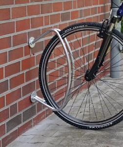 Einzelparker / Fahrradständer -Rimini-, zur Wandbefestigung, verschweißt (Ausführung: Einzelparker/Fahrradständer -Rimini-, zur Wandbefestigung, verschweißt (Art.Nr.: 15659))
