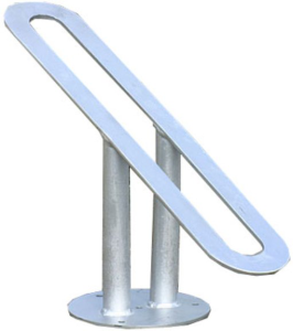 Einzelparker / Fahrradständer -Skopje-, für Reifenbreite bis 60 mm (Montage: zum Einbetonieren (Art.Nr.: 10831))