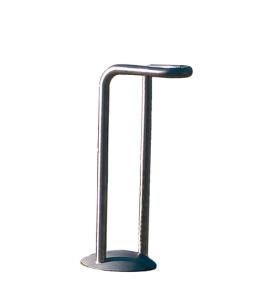 Einzelparker / Fahrradständer -Vesta- aus Edelstahl, zum Einbetonieren (Modell: ohne Abdeckplatte (Art.Nr.: 25420))