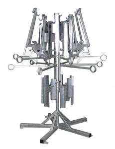 Fahrrad-Karussell -Messina- aus Stahl, mit Liftfunktion und 12 Einstellplätzen (Farbe: feuerverzinkt (Art.Nr.: 24082))