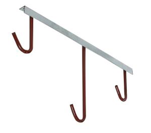 Fahrradaufhänger -Lyon-, Deckenbefestigung 90°, Radabstand 350 mm - für bis zu 8 Räder (Aufhänger/Länge:  <b>2er</b> / 450 mm (Art.Nr.: 10860))