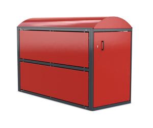 Fahrradgarage / Fahrradbox -Luxury- in 2 verschiedenen Größen, Grund- oder Anbaueinheit (Modell/Maße (LxBxH)/Gewicht:  <b>Grundeinheit</b> / 2080x850x1380 mm<br>Türdurchgangsmaß 760x1160 mm<br>komplett geschlossen<br>(Einzelaufs