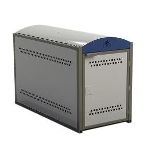 Fahrradgarage / Fahrradbox -Mirage 2- (2115 x 1000 x 1394 mm), Grund- oder Anbauelement (Modell: Grundfeld (Art.Nr.: 38137))
