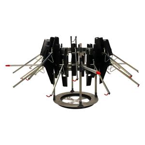 Fahrradkarussel -VelowUp 4.0-, für 12, 16 oder 20 Fahrräder, 360° routierend, platzsparend (Modell: für 12 Fahrräder (Ø ca. 3,5 m) (Art.Nr.: 40126))