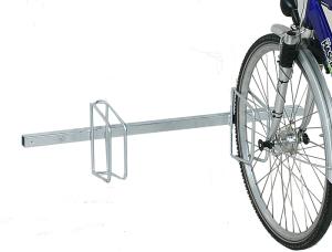 Fahrradklemme / Fahrradständer -Monaco Classic-, einseitige Radeinstellung, Radabstand 500 mm (Einstellplatz/Länge/Montage:  <b>2er</b>/1000mm/zum Aufschrauben<br>(inkl. Bodenplatte) (Art.Nr.: 10662))