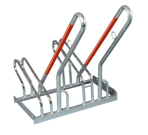 Fahrradständer Anlehnbügel Typ 2500, einseitige Radeinstellung 90° (Stellplätze/Länge: 2er / 700 mm (Art.Nr.: 2502))