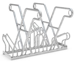 Fahrradständer Anlehnparker Typ 2600 XBF, ADFC Qualität, zweiseitige Radeinstellung (Stellplätze/Länge: 4er / 1080 mm (Art.Nr.: 2614xbf))