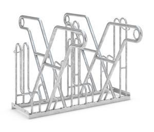 Fahrradständer Anlehnparker Typ 4600 XBF, ADFC Qualität, zweiseitige Radeinstellung (Stellplätze/Länge: 4er / 1080 mm (Art.Nr.: 4614xbf))
