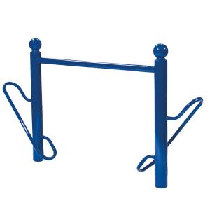 Fahrradständer -Bowl- Ø 76 mm aus Stahl, Höhe 750 mm, zum Einbetonieren (Farbe: RAL 3004 purpurrot (Art.Nr.: 22598))