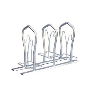 Fahrradständer -London- zweiseitige Radeinstellung (Einstellplatz/Länge/Montage:  <b>2er</b> 500 mm tief/zum Einbetonieren (Art.Nr.: 10526))