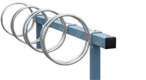 Fahrradständer -Lugano-, einseitige Radeinstellung (Länge/Tiefe/Stellplätze/Befestigung:  <b>1500mm</b>/470mm/<br>3 Stellplätze/<br>zum Einbetonieren (Art.Nr.: 15601))