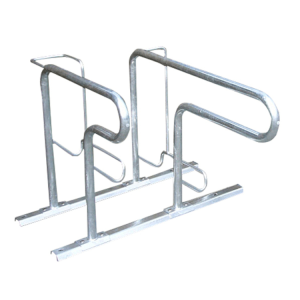 Fahrradständer -Moskau- zweiseitige Radeinstellung, ADFC Qualität (Einstellplatz/Länge/Montage:  <b>2er</b> tief/zum Einbetonieren (Art.Nr.: 10471))