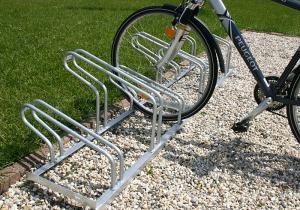 Fahrradständer -Nil Classic-, Radabstand 350 mm, Einstellwinkel 90° (Radstände/Radeinstellung/Länge:  <b>2er</b>/einseitig/700mm (Art.Nr.: 10785))