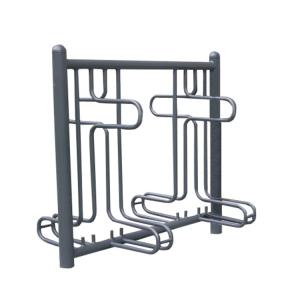 Fahrradständer -Rom-, ein- oder zweiseitige Radeinstellung, ADFC Qualität (Einstellplatz/Radeinstellung/Länge/Montage:  <b>2er einseitig</b> 1260mm/zum Aufschrauben (Art.Nr.: 10443))