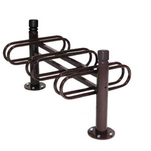 Fahrradständer -Trend- aus Stahl, zweiseitige Radeinstellung (Farbe: RAL 3004 purpurrot (Art.Nr.: 22590-01))