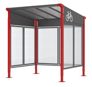 Fahrradüberdachung -Milano-, einseitig, Breite 2520 mm