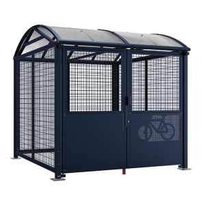 Fahrradüberdachung -Salix Safe-, Grund- und Anbaumodell, abschließbar