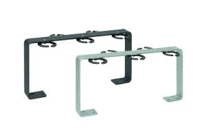 Scooter-Parker -Five- aus Stahl, 5 Einstellplätze, zum Aufdübeln, wahlweise farbig beschichtet (Farbe: ohne Farbe (Art.Nr.: 39248))