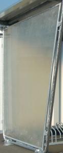 Seitenwände links / rechts aus naturtransparenten Polyesterplatten (Ausführung: Seitenwände links/rechts aus naturtransparenten Polyesterplatten (Art.Nr.: 2801224))
