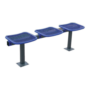 Sitzbank für Überdachungssystem -Triton-, aus Stahl, zum Einbetonieren oder zum Aufdübeln (Plätze/Länge/Montage: 2er Sitzbank/1000 mm<br>zum Einbetonieren  (Art.Nr.: 15368))