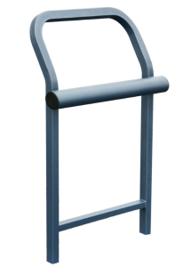 Standlehne -Time- aus Stahlrohr (Farbe: RAL 3004 purpurrot (Art.Nr.: 22160))