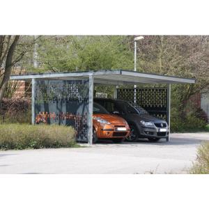 Überdachungssystem -Brontes-, einseitig (Seitenverkleidung: ohne Seitenverkleidung (Art.Nr.: 15334-01))