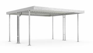 Überdachungssystem -Leipzig L44-, doppelseitig, Tiefe 4400 mm