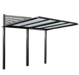 Überdachungssystem -Rufus- aus Stahl, zum Einbetonieren
