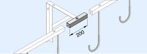 Verbindungselement für Reihen-Hängeparker (Ausführung: Verbindungselement für Reihen-Hängeparker (Art.Nr.: 4919159))