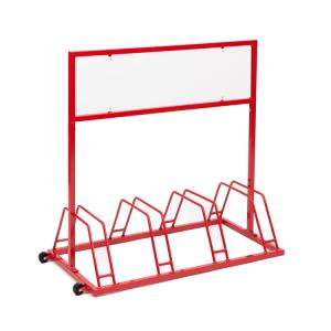 Werbe-Fahrradständer Typ EW 7004, zweiseitig, mit Laufrollen