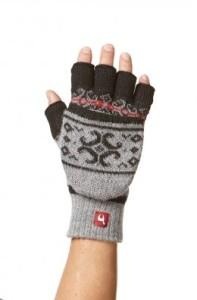 Känguru-Handschuh ANDEN VIENTOS Alpaka Baumwoll-Futter Damen Herren (Größe: S)