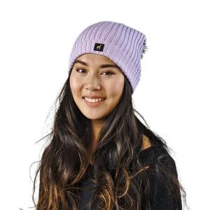 Alpaka Mütze Damen Sally One Size für Kopfgrößen S-XL mit Bommel kuschelig und weich (Farbe: Rosa)