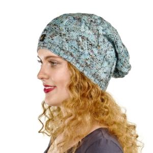 Alpaka Mütze Bella für Damen stylisch und kuschelig One Size für Kopfgrößen S-XL (Farbe: Beige-meliert)