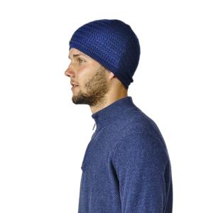 100% Alpaka Mütze Paul für Herren One Size für Kopfgrößen S-XL (Farbe: Dark Navy)